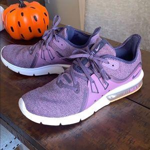Purple Nike Air Max Tennis Shoes